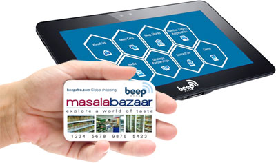 Beep Tablet and Branded Card
